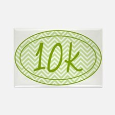 10k Green Chevron Rectangle Magnet