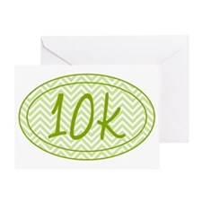 10k Green Chevron Greeting Card