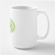 10k Green Chevron Large Mug