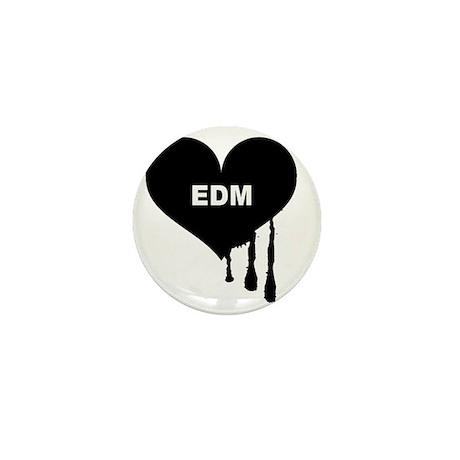 I Heart EDM Mini Button