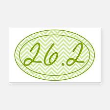26.2 Green Chevron Rectangle Car Magnet