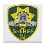 Carson City Sheriff Tile Coaster