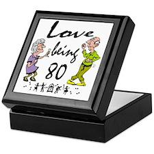 Love 80 Couple Keepsake Box