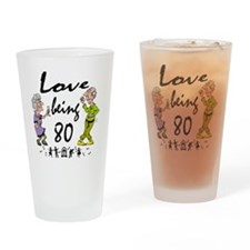 Love 80 Couple Drinking Glass