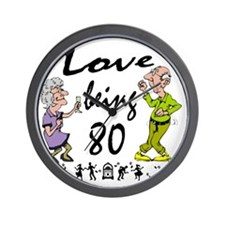 Love 80 Couple Wall Clock