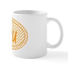 Orange Chevron Duathlon Mug