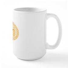 Orange Chevron Triathlon Mug