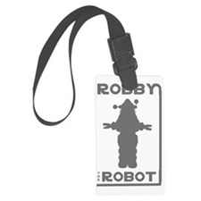 Robby the Robot Outline Luggage Tag