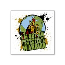 "Warrior Square Sticker 3"" x 3"""