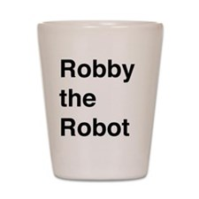 Robby the Robot Text Shot Glass