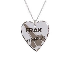 Frak Patriarchy Necklace Heart Charm