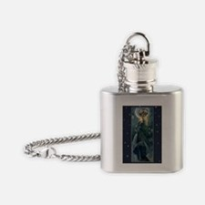 Moonlight Greeting Card Flask Necklace