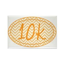 10k Orange Chevron Rectangle Magnet