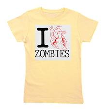 I Heart Zombies Girl's Tee