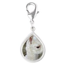 What's Up Alpaca Silver Teardrop Charm