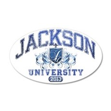 Jackson last name UNiversity 35x21 Oval Wall Decal