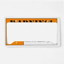 AR-15 Lead Warning License Plate Holder