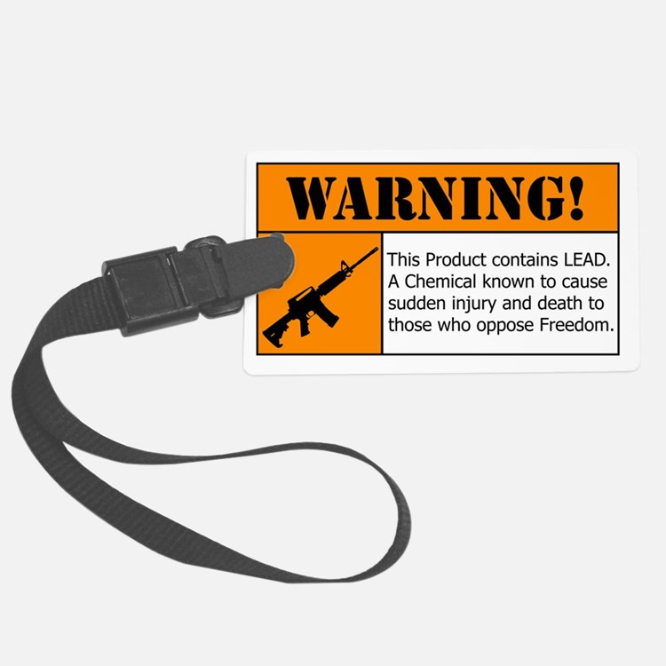 AR-15 Lead Warning Luggage Tag