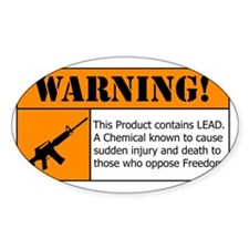 AR-15 Lead Warning Decal