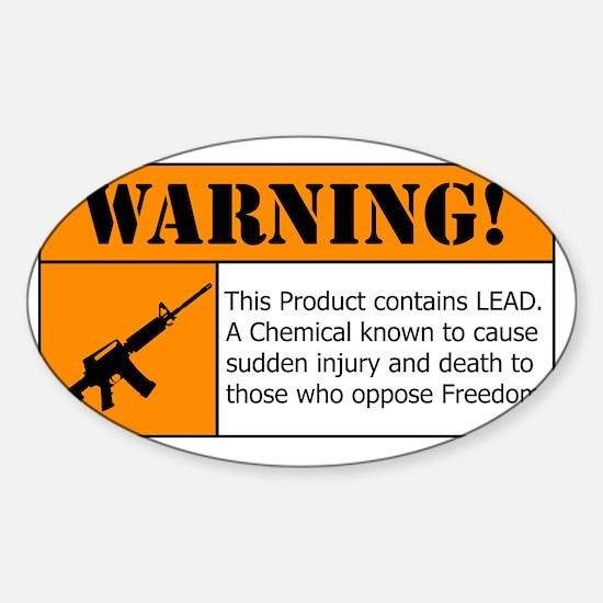 AR-15 Lead Warning Sticker (Oval)