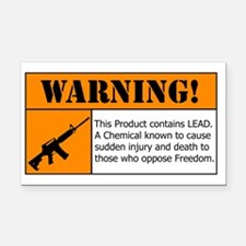 AR-15 Lead Warning Rectangle Car Magnet