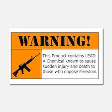 AR-15 Lead Warning Car Magnet 20 x 12