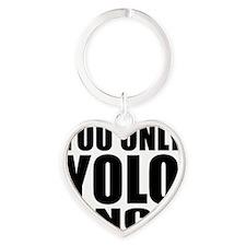 YOLO Heart Keychain