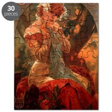 Alphonse Mucha Greeting Card Puzzle
