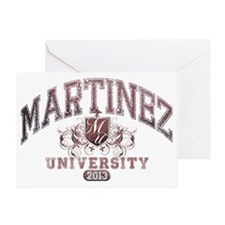 Martinez last name University Class  Greeting Card