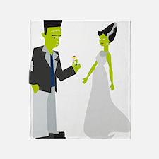 Frankenstein & Bride Throw Blanket
