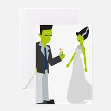 Frankenstein & Bride Greeting Card