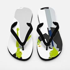 Frankenstein & Bride Flip Flops