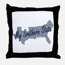 My Southern State Throw Pillow