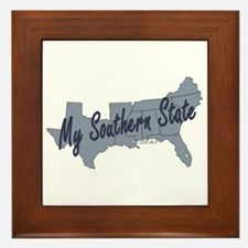 My Southern State Framed Tile