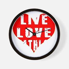 Live Love Biathlon Designs Wall Clock