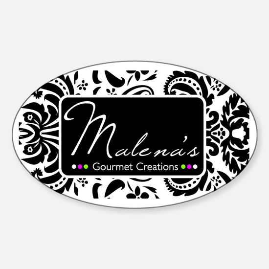 Malena's Gourmet Creations Sticker (Oval)
