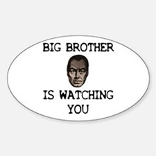 BIG BROTHER IS WATCHING YOU Oval Decal