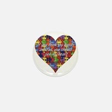 Autism Hands full, See my heart Mini Button