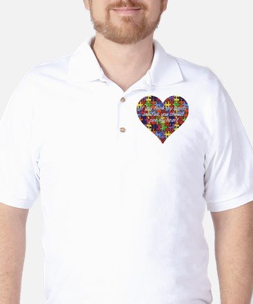 Autism Hands full, See my heart Golf Shirt