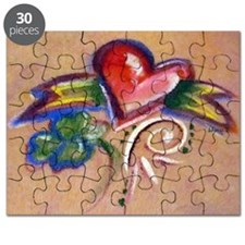 Heart Banner Puzzle