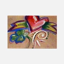 Heart Banner Rectangle Magnet