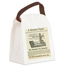 toy typewriter ad Canvas Lunch Bag
