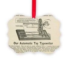 toy typewriter ad Ornament