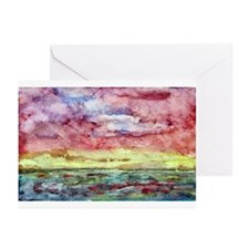 Sunset Watercolor, Lands End  Greeting Cards (Pack