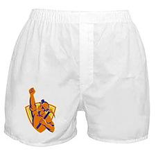 Coal Miner With Pick Ax Pump Fist Ret Boxer Shorts