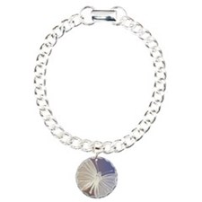 White Butterfly Charm Bracelet, One Charm