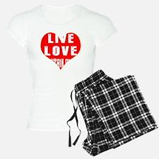 Live Love Mountain Biking D Pajamas