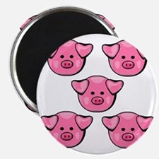 Cute Pink Piggies Magnet