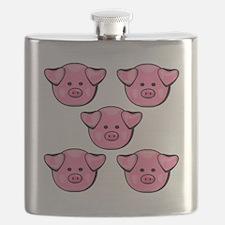 Cute Pink Piggies Flask