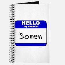 hello my name is soren Journal
